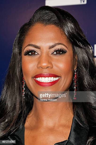 Omarosa attends WE TV's 'Marriage Boot Camp' reality stars 'David Tutera's Celebrations' premiere party at 1 OAK on January 8 2015 in West Hollywood...