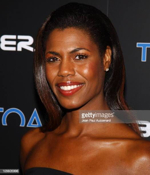 Omarosa during BosPokercom 2004 Celebrity Poker Tournament Arrivals at Private residence in Beverly Hills California United States