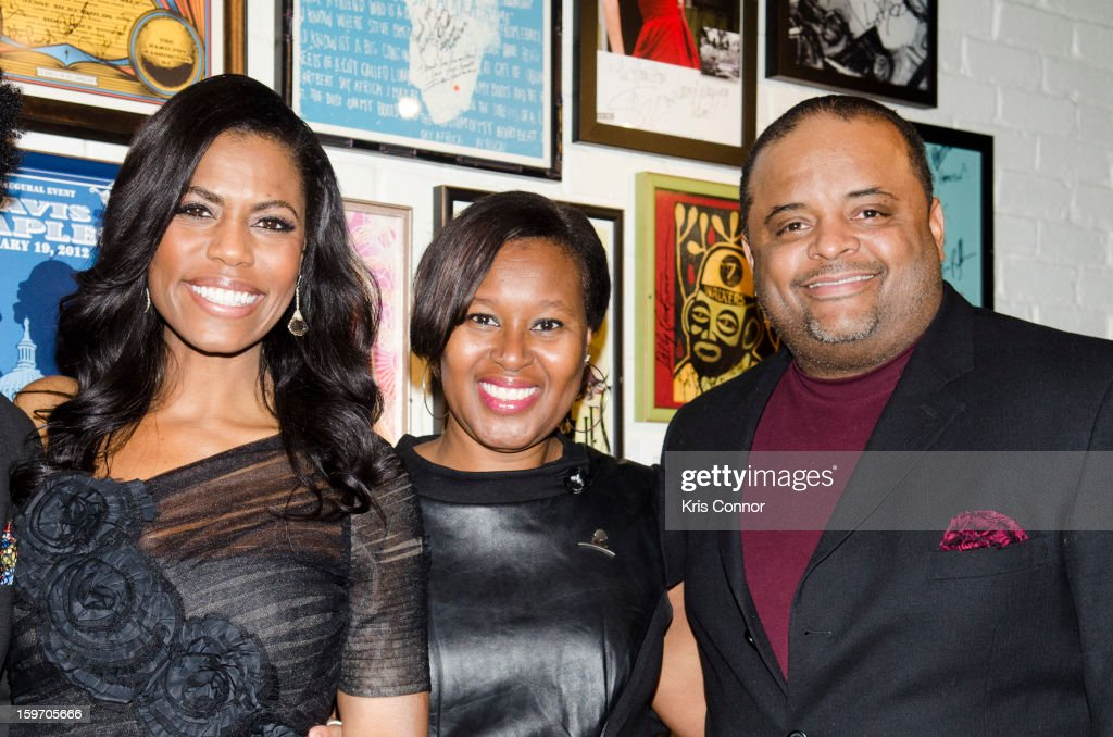 Omarosa, Jacquie Hood Martin and Roland S. Martin attends the St. Jude Children's Research Hospital Inaugural Benefit Reception on January 18, 2013 in Washington, United States.