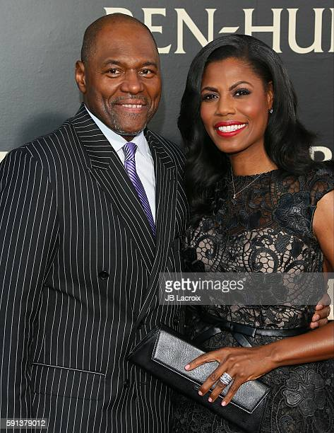 Omarosa Manigault and Dr John Allen Newman attend the premiere of Paramount Pictures' 'BenHur' on August 16 2016 in Hollywood California