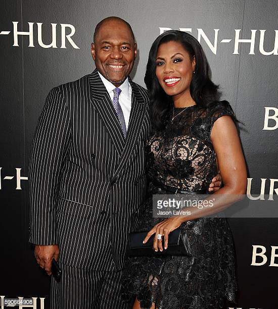 Omarosa Manigault and fiance John Allen Newman attend the premiere of 'BenHur' at TCL Chinese Theatre IMAX on August 16 2016 in Hollywood California