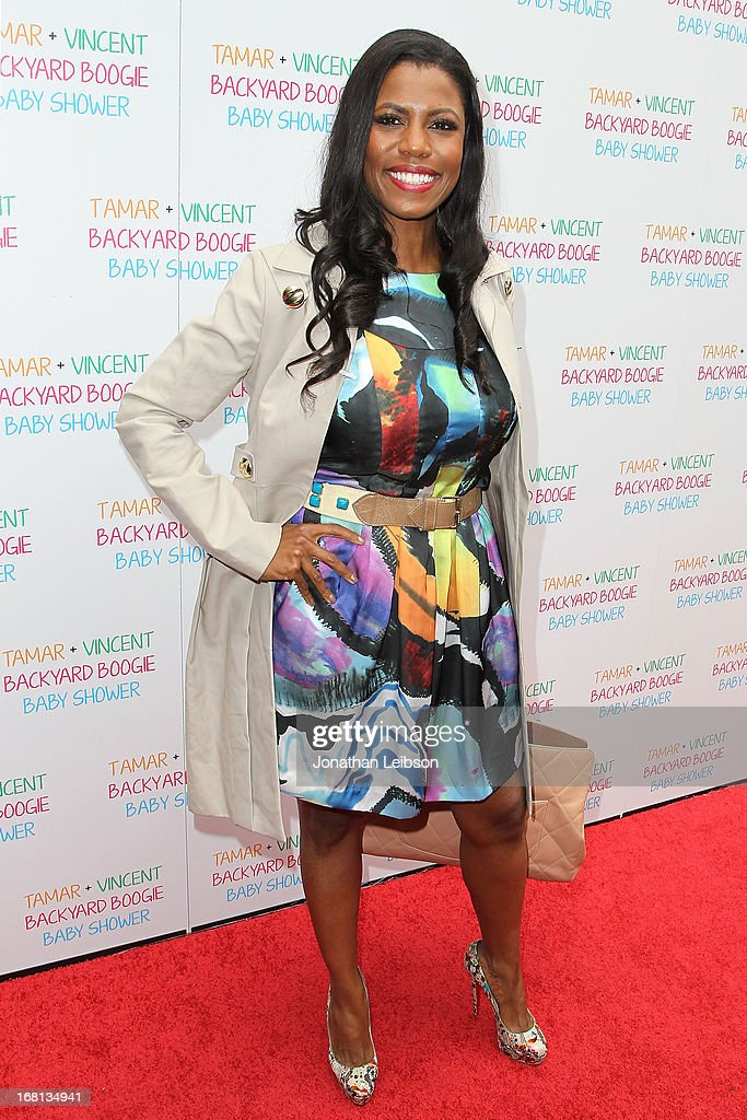 Omarosa Manigault attends as Tamar Braxton hosts a carnival-themed baby shower with friends and family at Hotel Bel-Air on May 5, 2013 in Los Angeles, California.