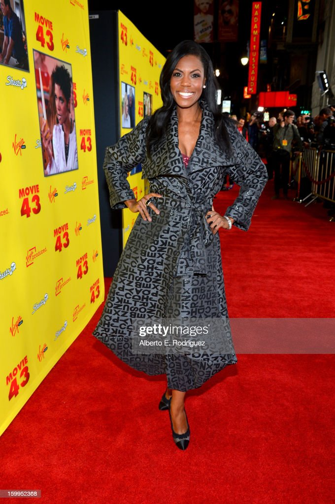 Omarosa Manigault attends Relativity Media's 'Movie 43' Los Angeles Premiere held at the TCL Chinese Theatre on January 23, 2013 in Hollywood, California.