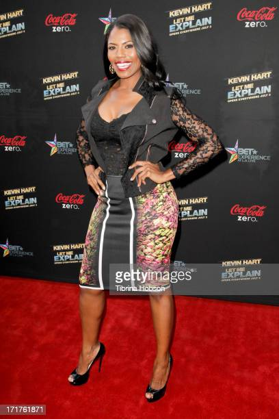 Omarosa Manigault attends the 'Kevin Hart Let Me Explain' Los Angeles premiere at Regal Cinemas LA Live on June 27 2013 in Los Angeles California