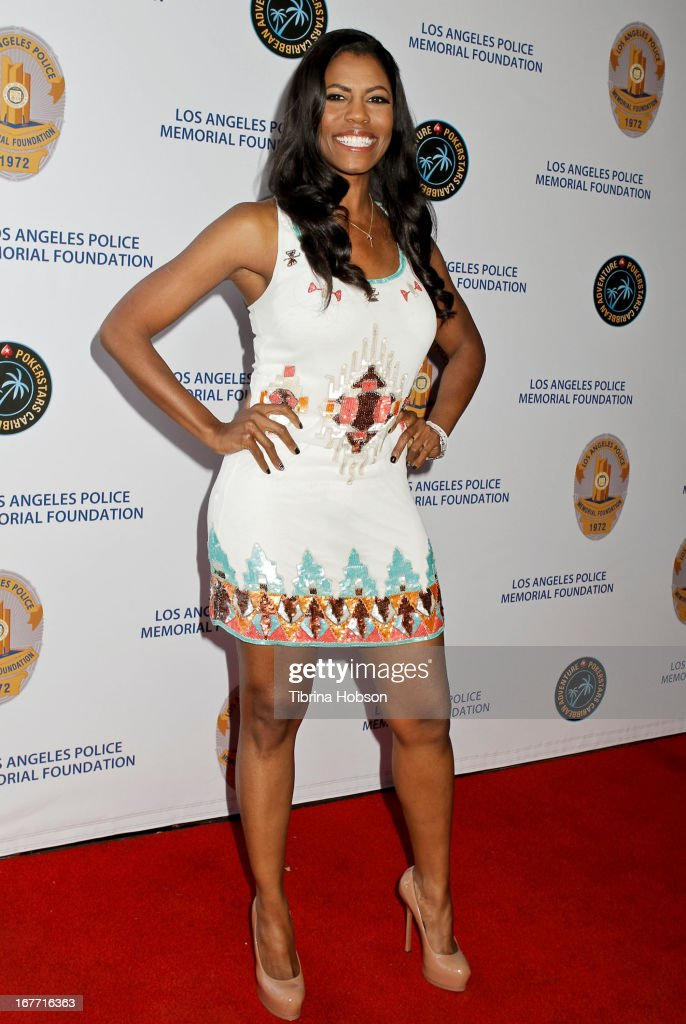 Omarosa Manigault attends the Los Angeles Police Memorial Foundation's celebrity poker tournament at Saban Theatre on April 27, 2013 in Beverly Hills, California.
