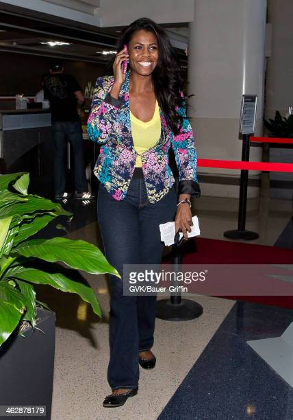Omarosa Manigault is seen at LAX airport on January 15 2014 in Los Angeles California
