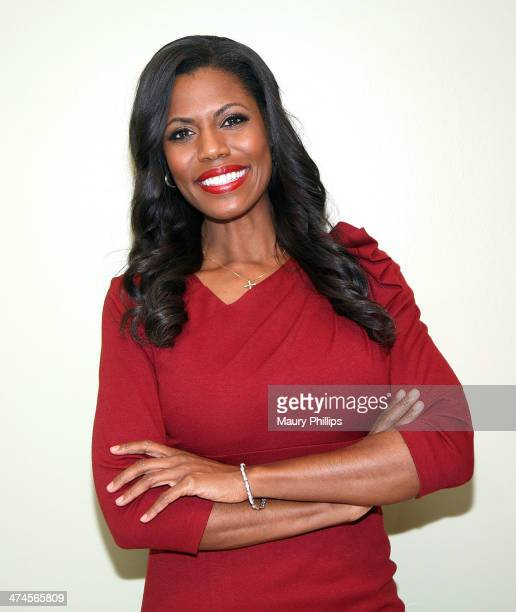 Omarosa Manigault Stallworth attends News One Now with Roland Martin Taping Special Hollywood Edition on February 17 2014 in Hollywood California