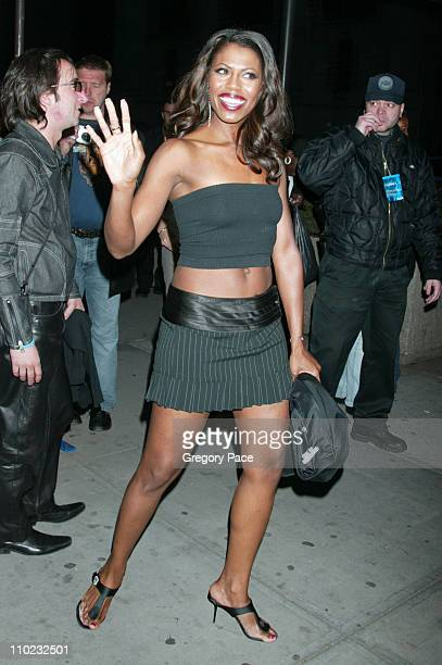 Omarosa Manigault Stallworth during 2005/2006 MTV Networks UpFront Departures at Madison Square Garden in New York City New York United States