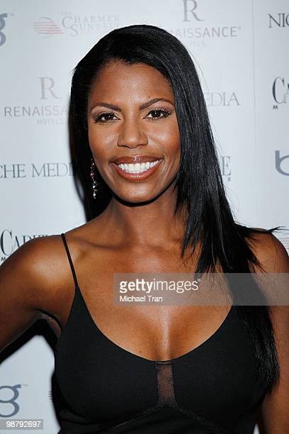 Omarosa ManigaultStallworth arrives to Jason Binn's Niche Media's WHCAD after party with Bing at the Renaissance Washington DC Hotel on May 2 2010 in...