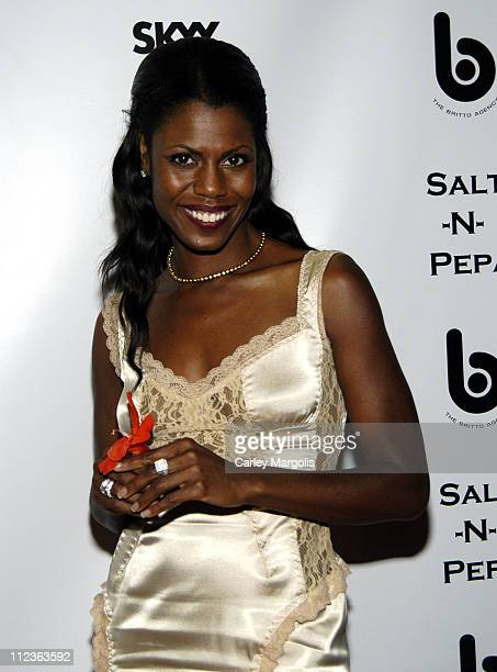 Omarosa ManigaultStallworth during 2005 VH1 Hip Hop Honors SaltNPepa After Party at Taj in New York City New York United States
