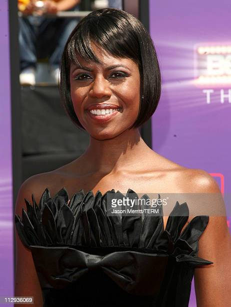 Omarosa ManigaultStallworth during BET Awards 2007 Arrivals at Shrine Auditorium in Los Angeles California United States