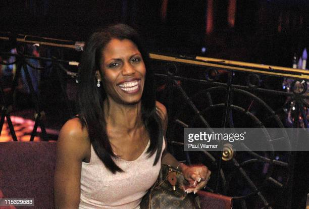 Omarosa ManigaultStallworth during Omarosa ManigaultStallworth AJ Calloway and Emil Wilbekin at Candi Bar April 23 2004 at Candi Bar in Detroit...