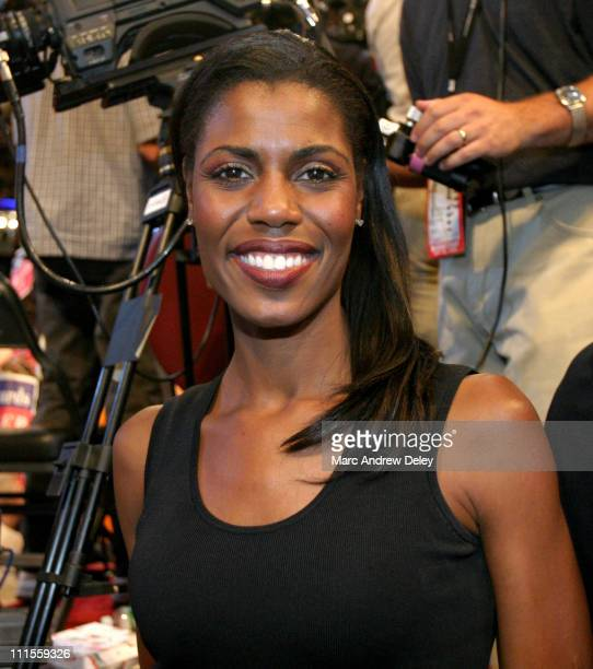 Omarosa ManigaultStallworth on the floor of the 2004 Democratic National Convention