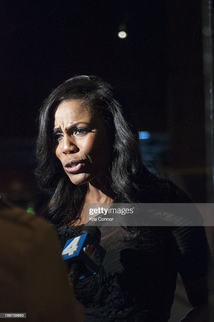 Omarosa speaks with the press during the St. Jude Children's Research Hospital Inaugural Benefit Reception on January 18, 2013 in Washington, United States.