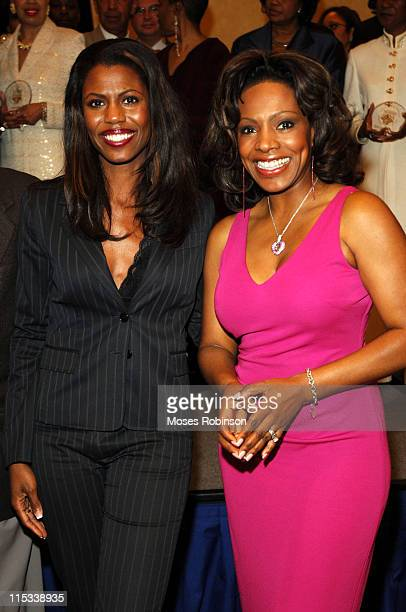 Omarosa Stallworth and Sheryl Lee Ralph during Trumpet Awards 2005 Honorees and Sponsors Dinner at Omni Hotel at CNN Center Grand Ballroom in Atlanta...