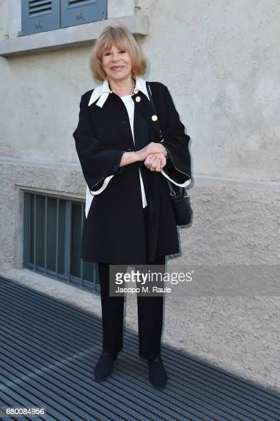Ombretta Colli attends a 'Private view of 'TV 70 Francesco Vezzoli Guarda La Rai' at Fondazione Prada on May 7 2017 in Milan Italy