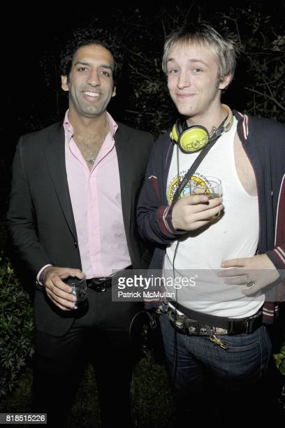 Omeed Malik and Liam McMullan attend Eric Lerner Frank Cascio Celebrate their birthdays with Host Sean Parker and CoHosts Denise Rich Romero Britto...