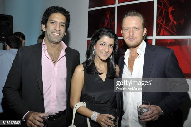 Omeed Malik Paras Malik and Edward Chapman attend Eric Lerner Frank Cascio Celebrate their birthdays with Host Sean Parker and CoHosts Denise Rich...