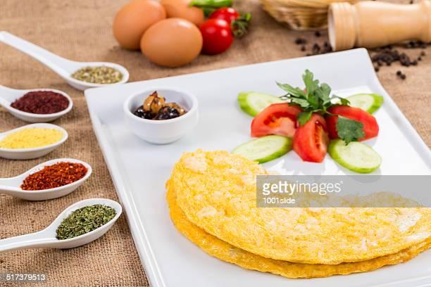 Omelette con formaggio bianco