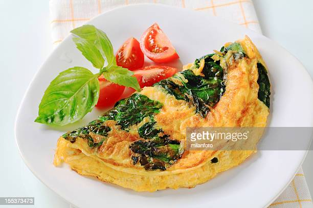 Omelette with cheese and spinach