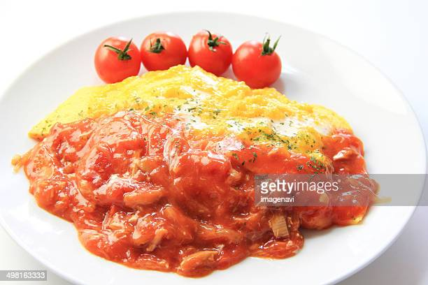 Omelette with rice