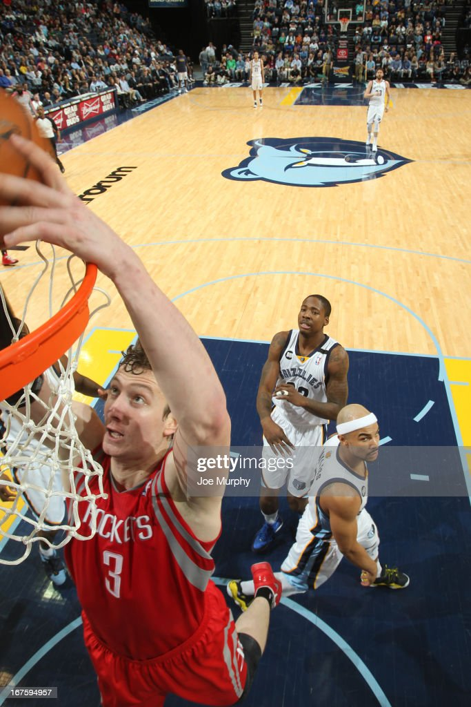 <a gi-track='captionPersonalityLinkClicked' href=/galleries/search?phrase=Omer+Asik&family=editorial&specificpeople=4946055 ng-click='$event.stopPropagation()'>Omer Asik</a> #3 of the Houston Rockets dunks against the Memphis Grizzlies on March 29, 2013 at FedExForum in Memphis, Tennessee.
