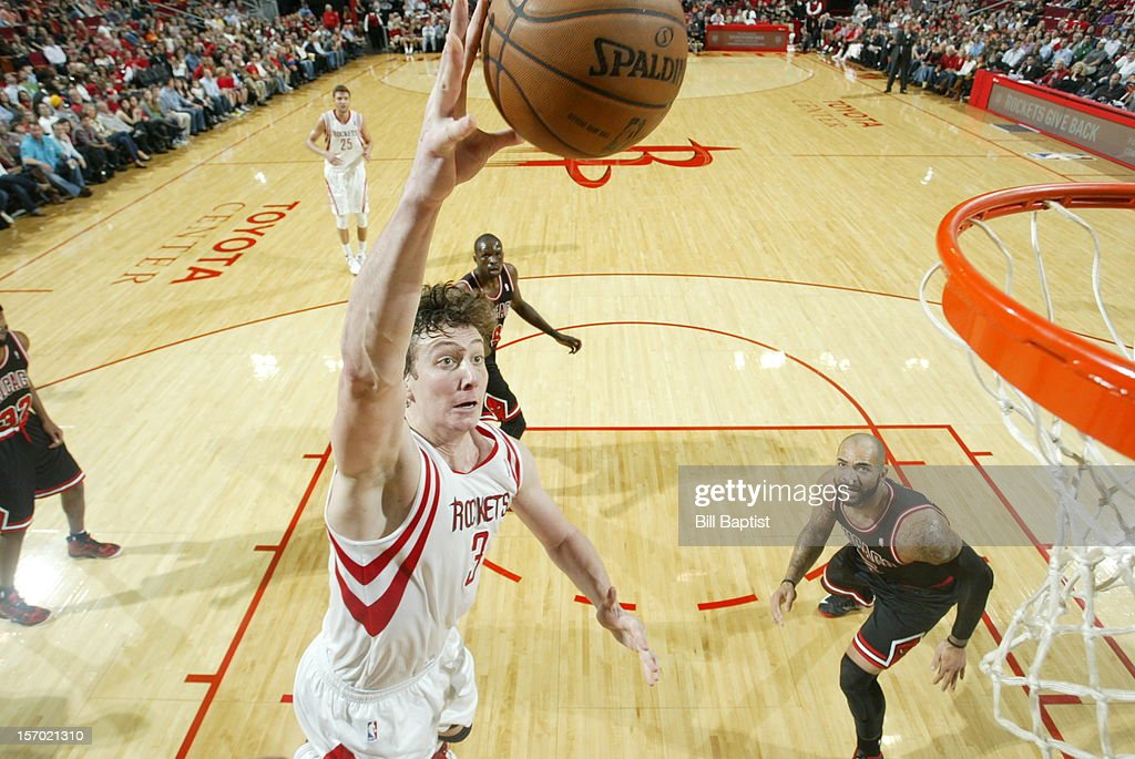 <a gi-track='captionPersonalityLinkClicked' href=/galleries/search?phrase=Omer+Asik&family=editorial&specificpeople=4946055 ng-click='$event.stopPropagation()'>Omer Asik</a> #3 of the Houston Rockets dunks the ball against the Chicago Bulls on November 21, 2012 at the Toyota Center in Houston, Texas.