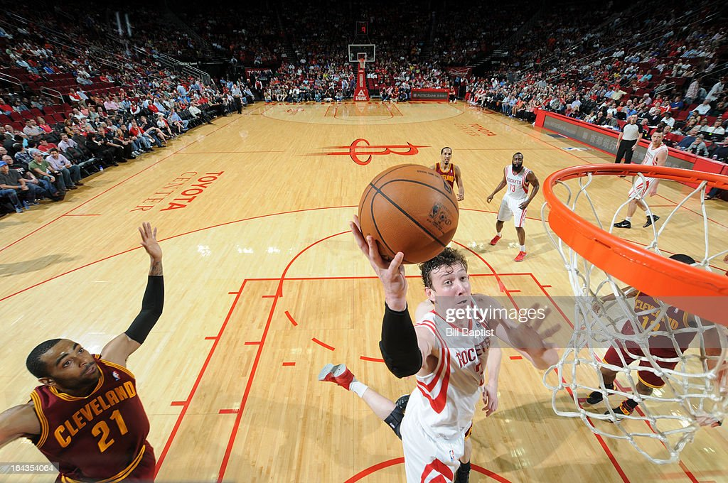 <a gi-track='captionPersonalityLinkClicked' href=/galleries/search?phrase=Omer+Asik&family=editorial&specificpeople=4946055 ng-click='$event.stopPropagation()'>Omer Asik</a> #3 of the Houston Rockets dunks the ball against the Cleveland Cavaliers on March 22, 2013 at the Toyota Center in Houston, Texas.