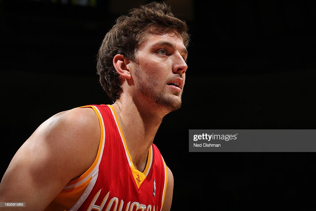 <a gi-track='captionPersonalityLinkClicked' href=/galleries/search?phrase=Omer+Asik&family=editorial&specificpeople=4946055 ng-click='$event.stopPropagation()'>Omer Asik</a> #3 of the Houston Rockets looks on against the Washington Wizards during the game at the Verizon Center on February 23, 2013 in Washington, DC.