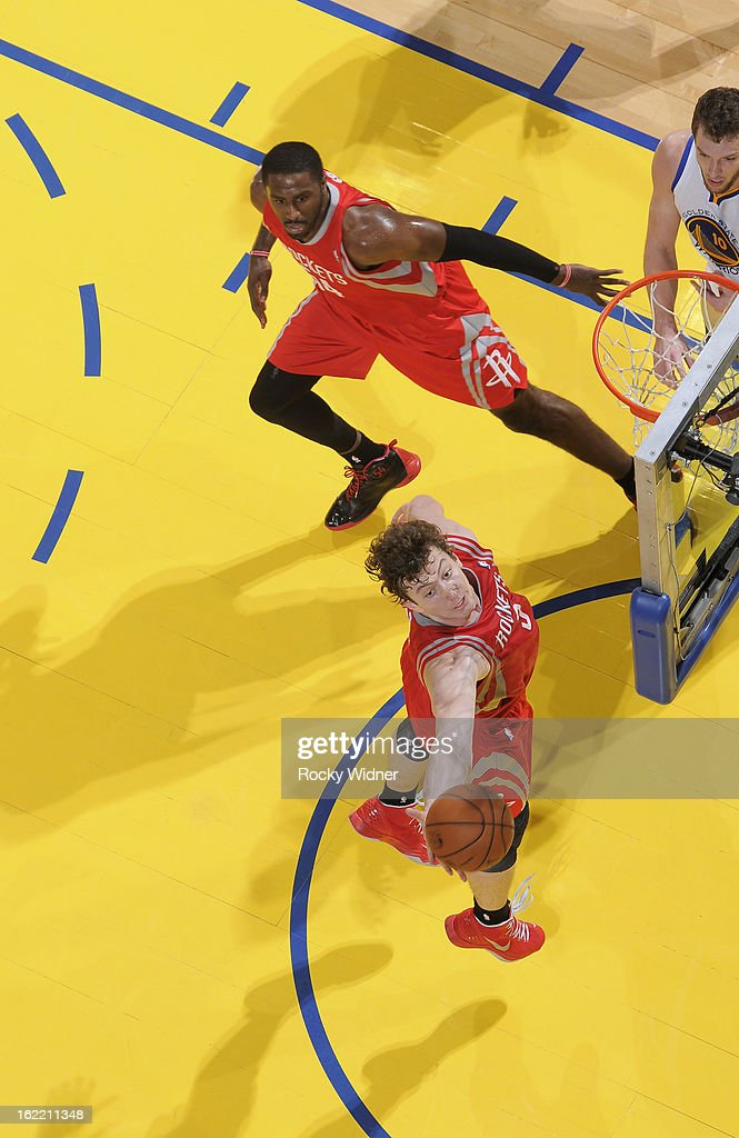 <a gi-track='captionPersonalityLinkClicked' href=/galleries/search?phrase=Omer+Asik&family=editorial&specificpeople=4946055 ng-click='$event.stopPropagation()'>Omer Asik</a> #3 of the Houston Rockets rebounds against the Golden State Warriors on February 12, 2013 at Oracle Arena in Oakland, California.