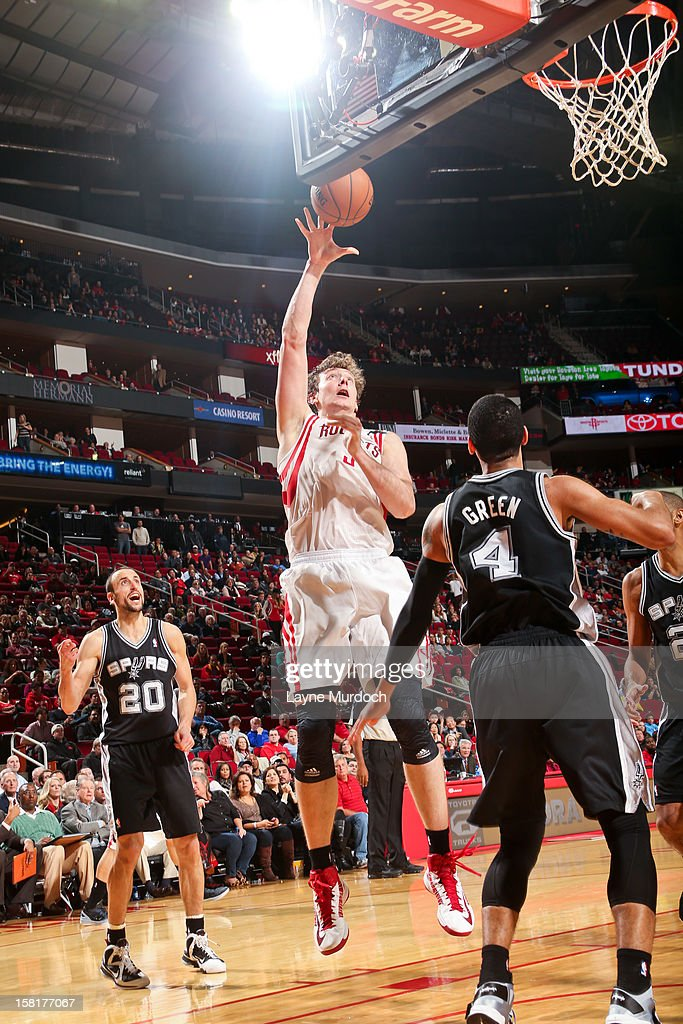<a gi-track='captionPersonalityLinkClicked' href=/galleries/search?phrase=Omer+Asik&family=editorial&specificpeople=4946055 ng-click='$event.stopPropagation()'>Omer Asik</a> #3 of the Houston Rockets shoots against the San Antonio Spurs on December 10, 2012 at the Toyota Center in Houston, Texas.