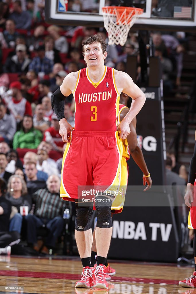 <a gi-track='captionPersonalityLinkClicked' href=/galleries/search?phrase=Omer+Asik&family=editorial&specificpeople=4946055 ng-click='$event.stopPropagation()'>Omer Asik</a> #3 of the Houston Rockets walks up court during the game against the Portland Trail Blazers on April 5, 2013 at the Rose Garden Arena in Portland, Oregon.