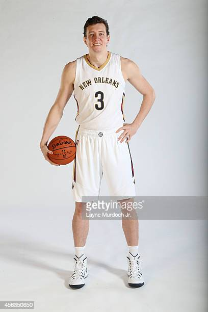 Omer Asik of the New Orleans Pelicans poses for photos during NBA Media Day on September 29 2014 at the New Orleans Pelicans practice facility in...