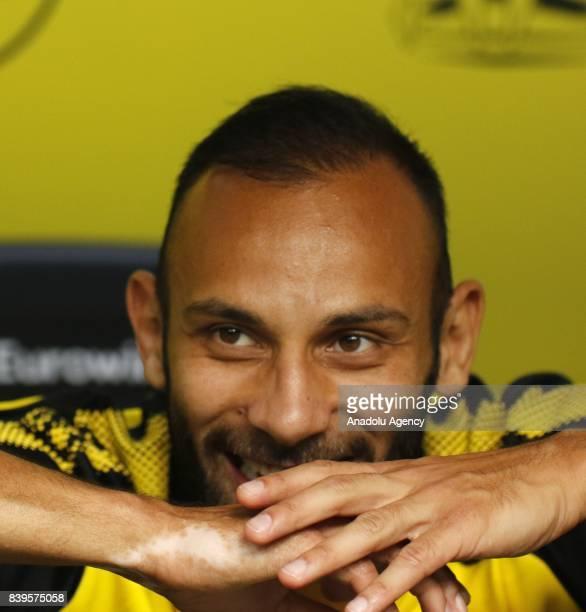 Omer Toprak of Borussia Dortmund is seen before the Bundesliga soccer match between Borussia Dortmund and Hertha BSC Berlin at the Signal Iduna Park...