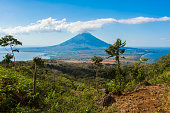 View of volcán Concepción and Ometepe island in Nicaragua from the slope of volcán Maderas