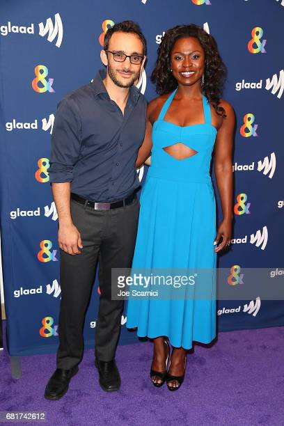 Omid Abtahi and Yetide Bakadi arrive at the 'American Gods' advance screening In Partnership With GLAAD at The Paley Center for Media on May 10 2017...