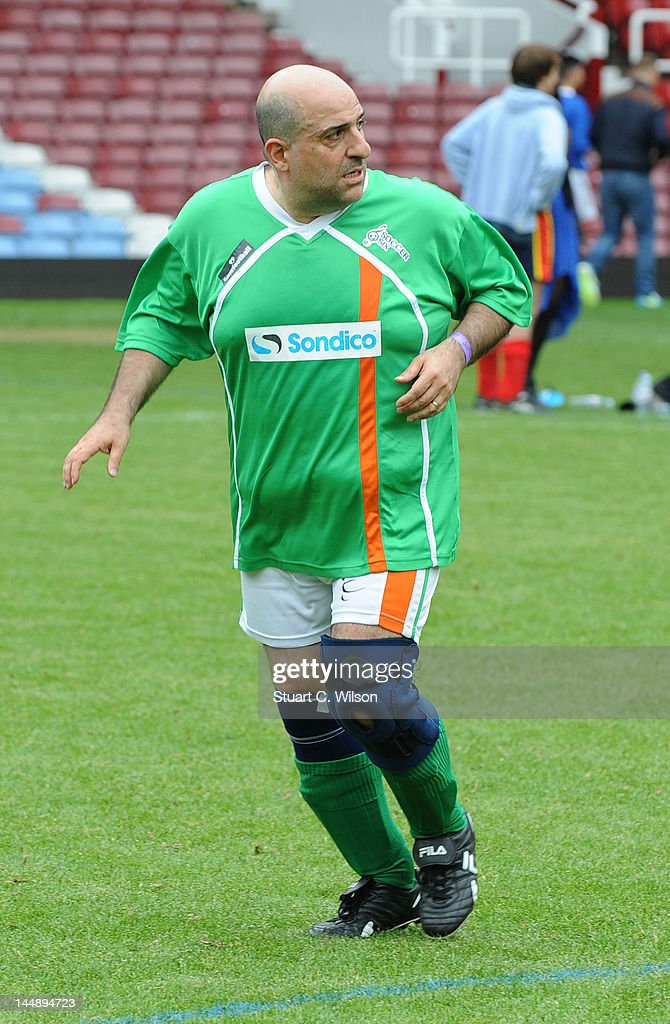 Omid Djalili attends the Celebrity Soccer Six 2012 Tournament at Upton Park on May 20, 2012 in London, England.