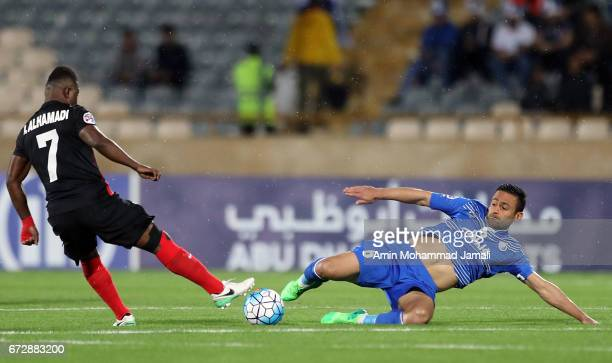 Omid Ebrahimi of Esteghlal in action during AFC Champions League match between Esteghlal vs Al Ahli FC at Azadi Stadium on April 25 2017 in Tehran...