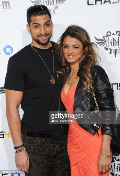 Omid Kalantari and TV personality Golnesa 'GG' Gharachedaghi attend WillIAm's Annual TRANS4M Concert Benefitting IAmAngel Foundation Red Carpet on...