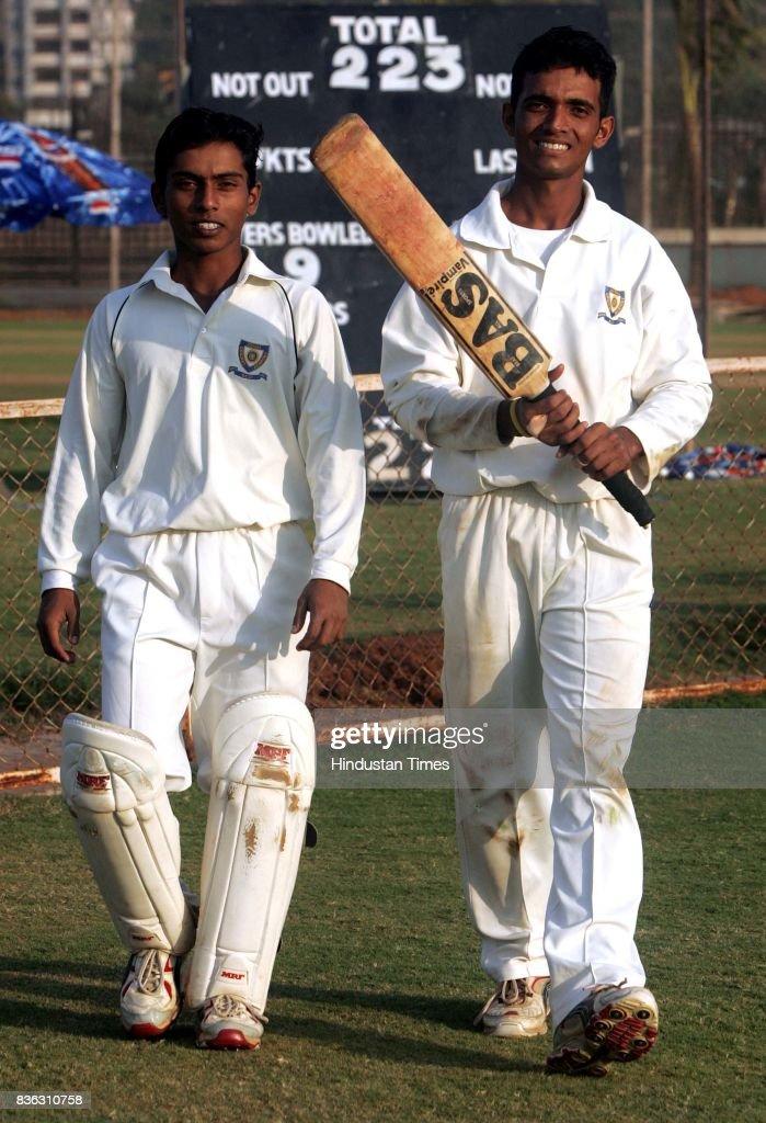 Omkar Gurav (Wicket Keeper), (R) Ajinkya Rahane