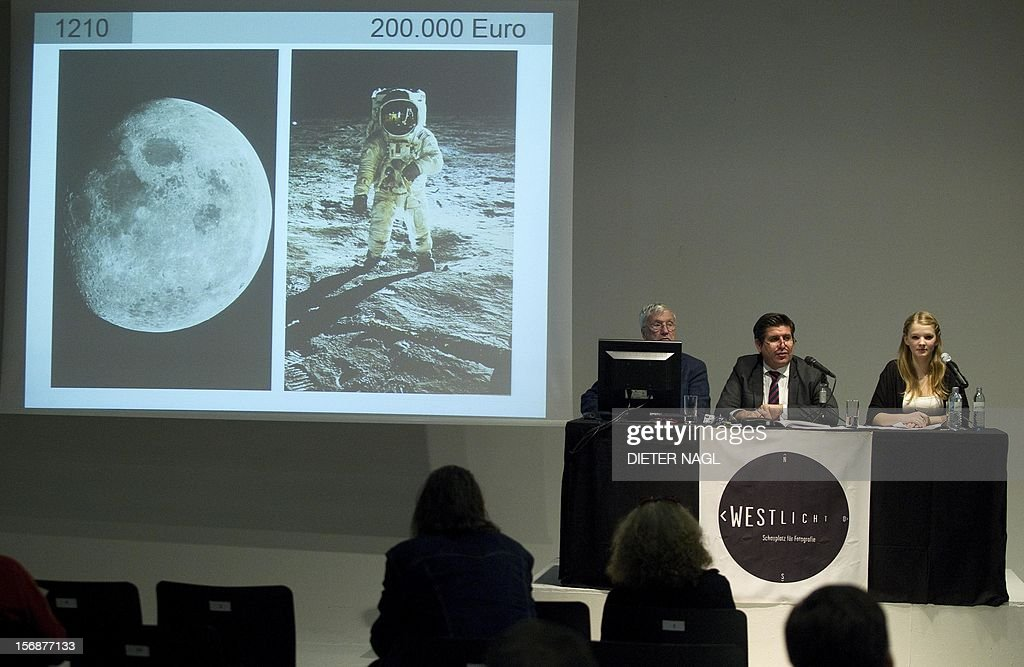 A omnibus volume of historic NASA photographs fall under the hammer for 200.000 Euro during a auction of seldom vintage photo prints on November 23, 2012 at the Westlicht photo gallery in Vienna, Austria.