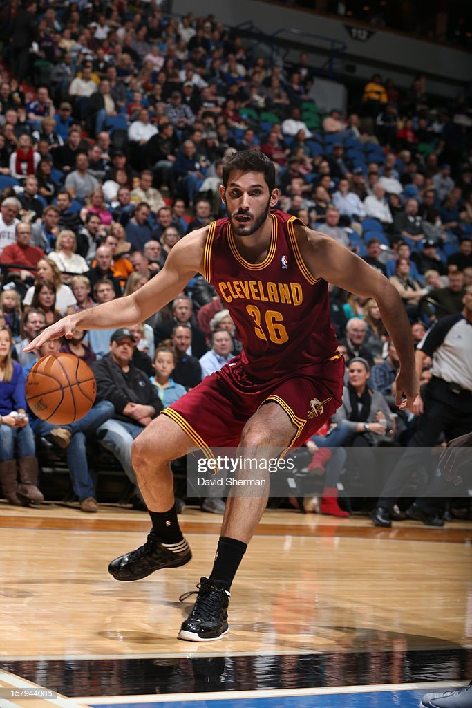 <a gi-track='captionPersonalityLinkClicked' href=/galleries/search?phrase=Omri+Casspi&family=editorial&specificpeople=2298404 ng-click='$event.stopPropagation()'>Omri Casspi</a> #36 of the Cleveland Cavaliers drives to the hoop against the Minnesota Timberwolves during the game on December 7, 2012 at Target Center in Minneapolis, Minnesota.