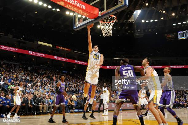 Omri Casspi of the Golden State Warriors goes for a lay up against the Sacramento Kings on November 27 2017 at ORACLE Arena in Oakland California...
