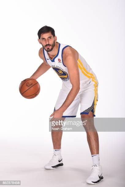 Omri Casspi of the Golden State Warriors poses for a portrait during media day on September 22 2017 at Oracle Arena in Oakland California NOTE TO...