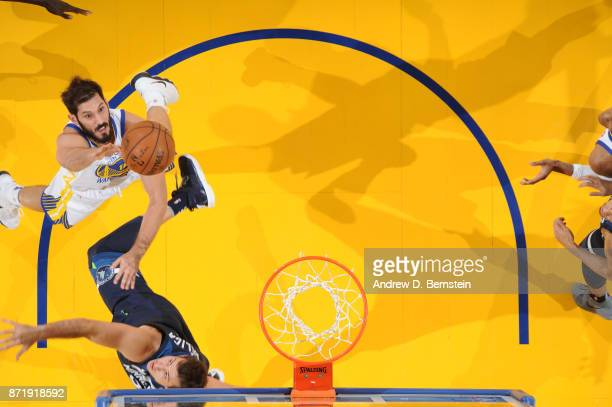 Omri Casspi of the Golden State Warriors shoots the ball against the Minnesota Timberwolves on November 8 2017 at ORACLE Arena in Oakland California...