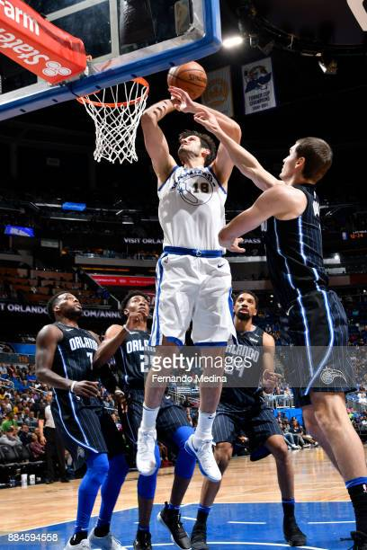 Omri Casspi of the Golden State Warriors shoots the ball against the Orlando Magic on December 1 2017 at Amway Center in Orlando Florida NOTE TO USER...
