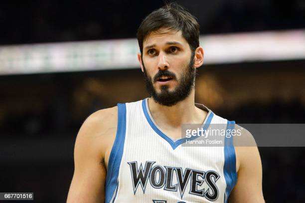 Omri Casspi of the Minnesota Timberwolves looks on during the fourth quarter of the game against the Oklahoma City Thunder on April 11 2017 at the...