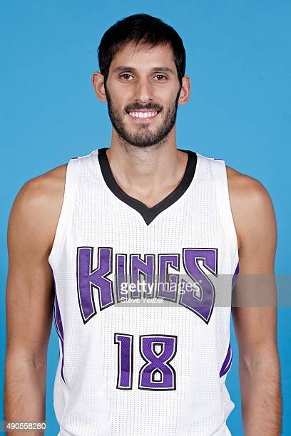 Omri Casspi of the Sacramento Kings poses for a head shot on media day September 28 2015 at the Kings practice facility in Sacramento California NOTE...