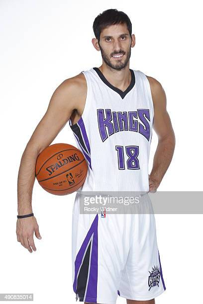 Omri Casspi of the Sacramento Kings poses for a photo on media day September 28 2015 at the Kings practice facility in Sacramento California NOTE TO...