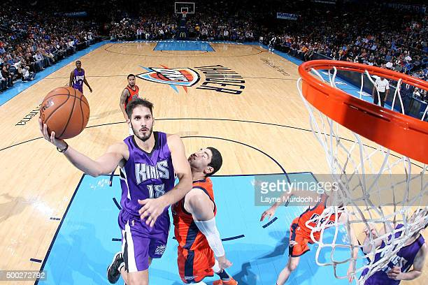 Omri Casspi of the Sacramento Kings shoots the ball against the Oklahoma City Thunder on December 6 2015 at the Chesapeake Energy Arena in Oklahoma...